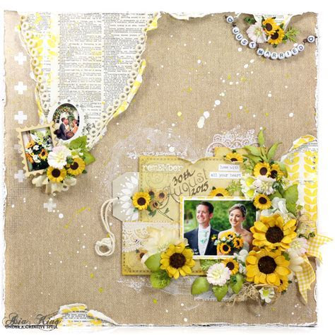 Sunflower Love Wedding Layout ~ Under a creative spell