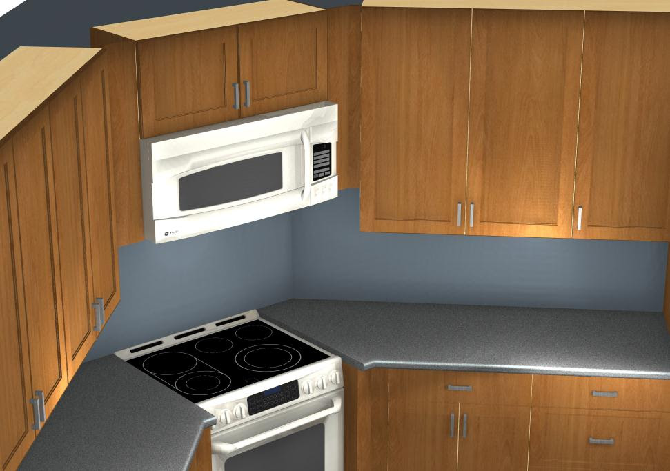 Common Kitchen Design Mistakes: Corner Stove and Microwave alignment