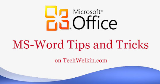 Type In the Middle or Anywhere in an MS Word Document