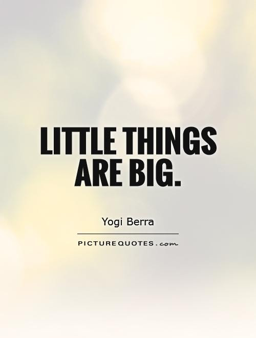 Little Things Are Big Picture Quotes