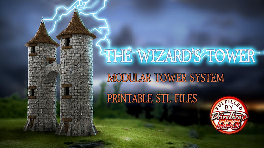 The Wizard's Tower - 3D printable Modular Tower System