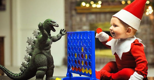 Dad turns his grossly adorable baby into a grossly adorable Elf on the Shelf