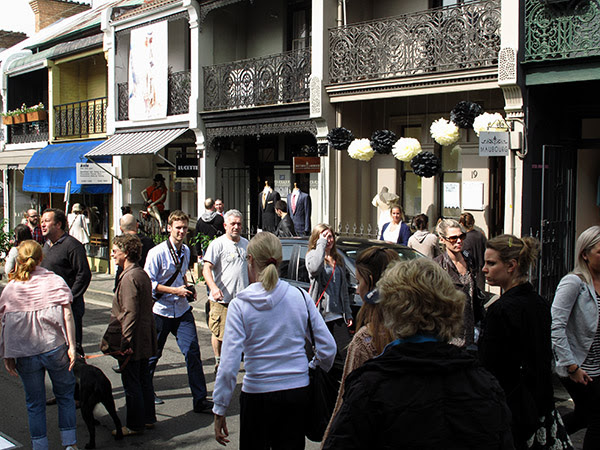Street View, No cars, Paddington's William Street Laneway Festival