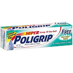 Super Poligrip Denture Adhesive Cream Free of Artificial Colors and Flavors - 1.4 oz
