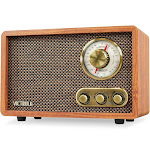 Victrola Vintage Bluetooth FM/AM Radio with Rotary Dial