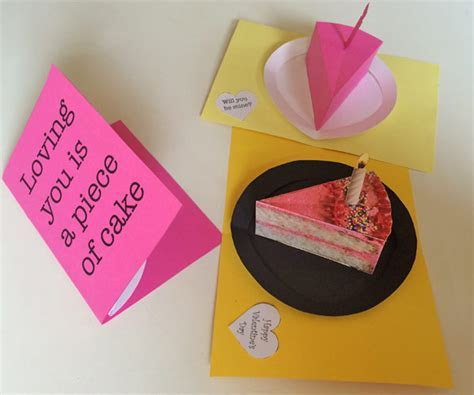 Slice of cake printable pop up card for many occasions