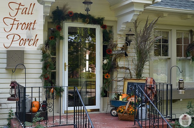 Fall Front Porch Decorating