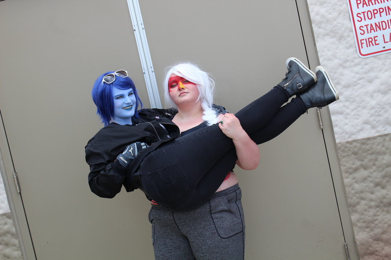OG Homeworld Three from Steel City Con Photo by Me Peridot @heathenboyson Lapis- Jasper-