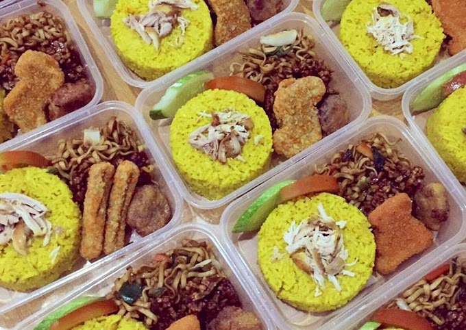Resep Membuat Mi Goreng 💛 (pelengkap bento nasi kuning) Anti Gagal