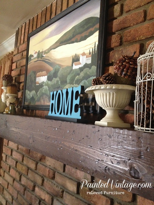 DIY Wood Mantel - Painted Vintage