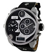 Diesel Men's DZ7125 Black SBA Oversized Analog-Digital Black and Silver Dial: Watches: Amazon.com