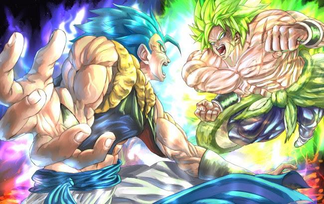 Wallpaper Goku Vs Broly Dragon Ball Super Broly Artwork