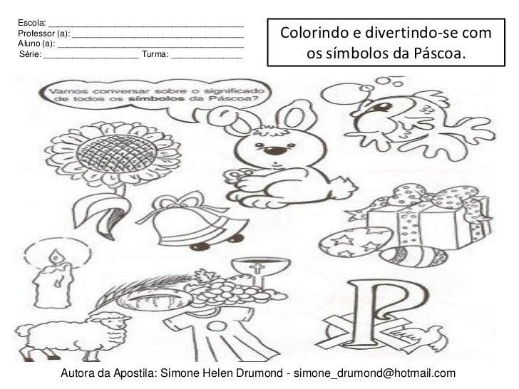 Inspirador Desenhos Para Colorir Sobre Os Simbolos Da Pascoa