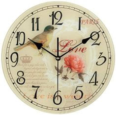 "Love Bird 12"" Wide Decorative Wall Clock : Wall Clocks Large Decorative : Home Improvement"