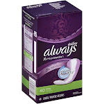 Always Xpro Lng Pnt Lnr 4 Size 40ct Always Dalies Xtra Protection Pantiliner 40ct -PACK 3