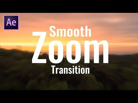 Smooth Zoom Transition in After Effect | After Effect Tutorial | By