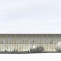 Pontivy Media Library / Opus 5 architectes South Elevation