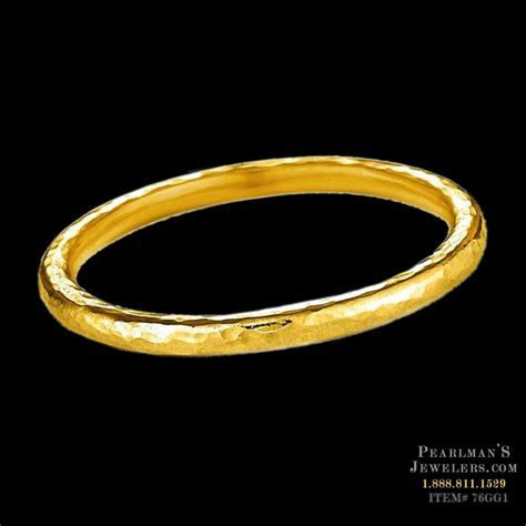 Gurhan 24k Gold Hammered Band