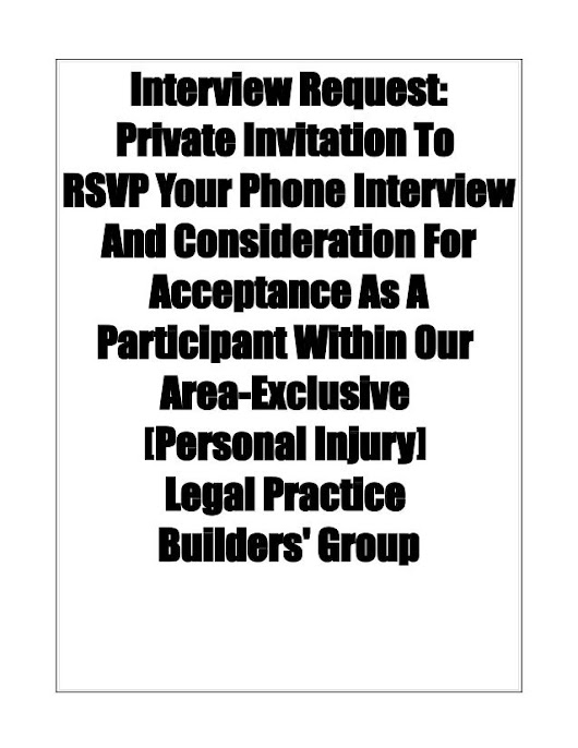 Injury Law Client Practice builders