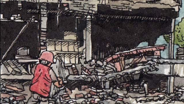 La fábrica de empaquetado que acabó convertida en escombros