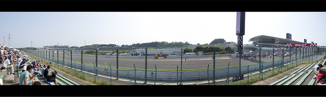 Suzuka Main Straight Panorama