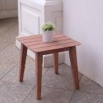 Havenside Home Rohoboth Mahogany Wood Side Table