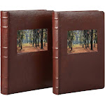 Old Town Bonded Leather Photo Album 2 Pack Brown