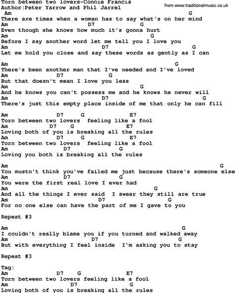 connie francis lyrics
