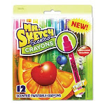 Mr. Sketch Scented Crayons, Assorted Colors, 12 Crayons (SAN1951200)