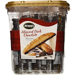 Nonni's Almond Dark Chocolate Biscotti - 25 count, 943 g jar