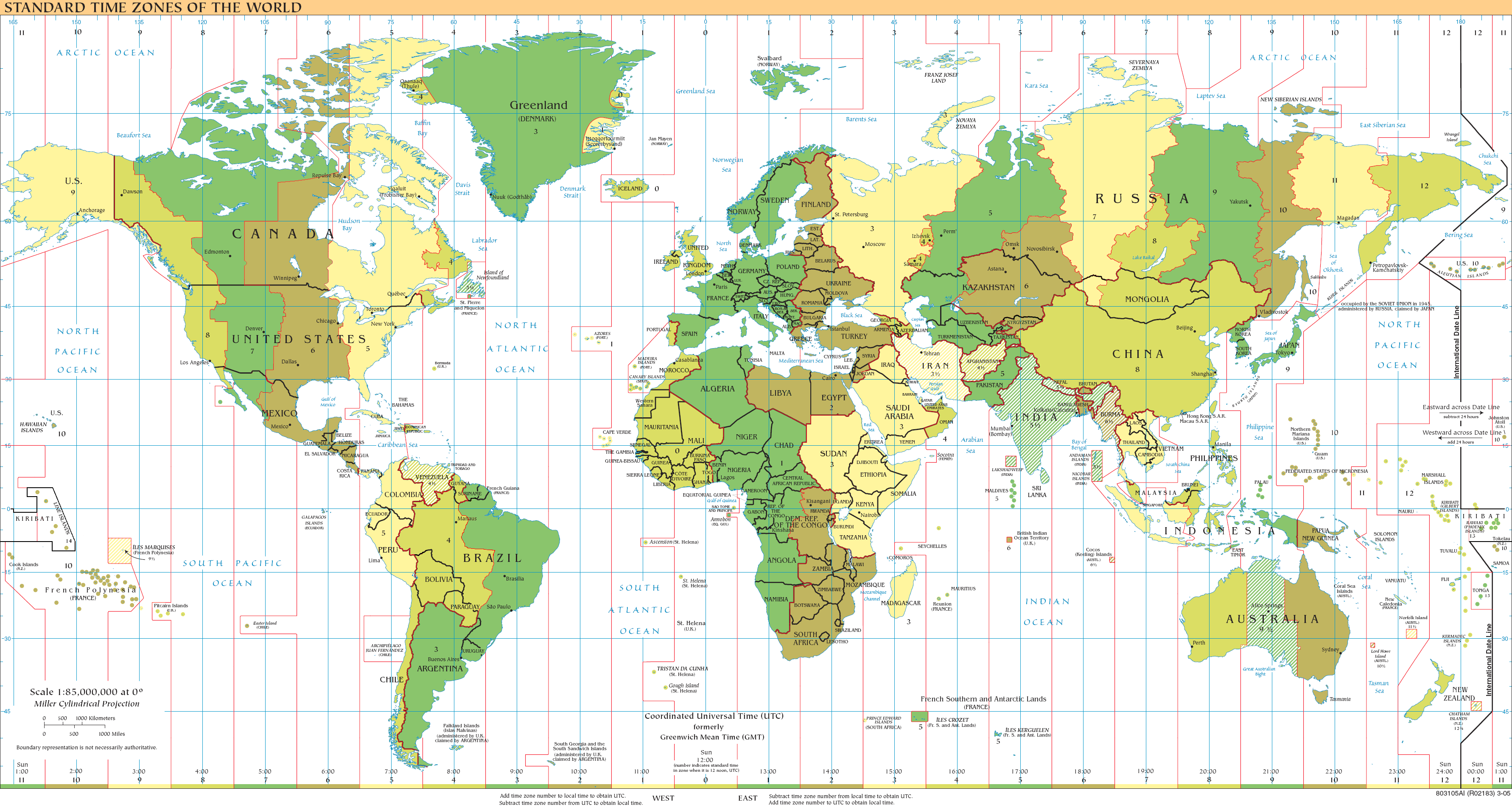 2008 TimeZone map from Wikipedia