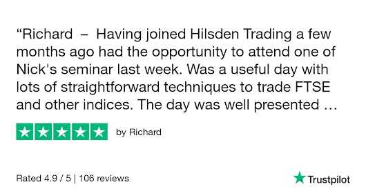 Richard gave Hilsden Trading 5 stars. Check out the full review...