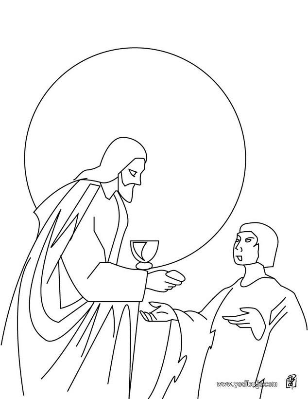 Dibujos Para Colorear Jesús Parte El Pan Eshellokidscom
