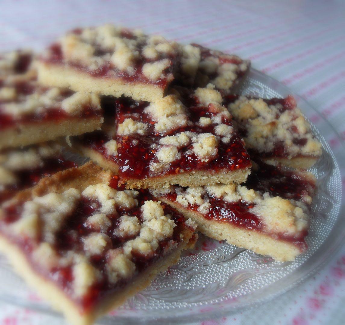 Raspberry Linzer Slices