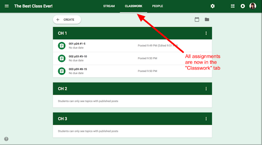 5 New Features in Google Classroom - August 2018 - Exploring the TECH in TEaCHer