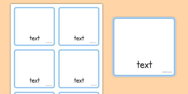 Editable Visual Timetable Cards - SEN, Visual Timetable