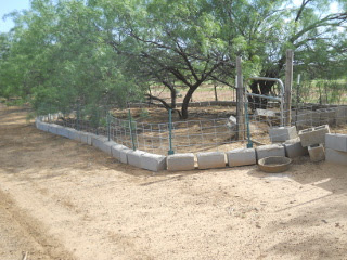 Portable Cinder Block, Cattle Panel Pig Fencing First Closed-In Range Area