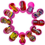 BestPysanky 12 Pink Plastic Easter Eggs with Premium Candy