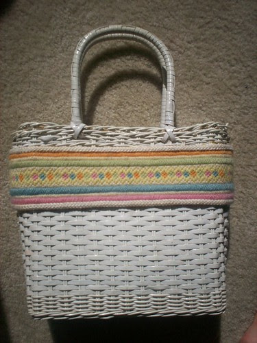 Groovy Plastic Canvas Embroidered Bag