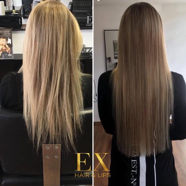Ex Hair Lips Wir Machen Echthaar Bezahlbar Haarverlängerung