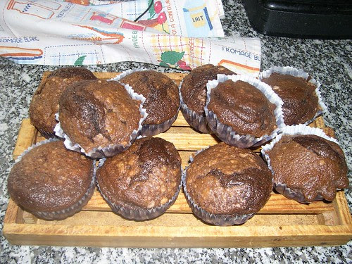 MUFFINS DE DOBLE CHOCOLATE