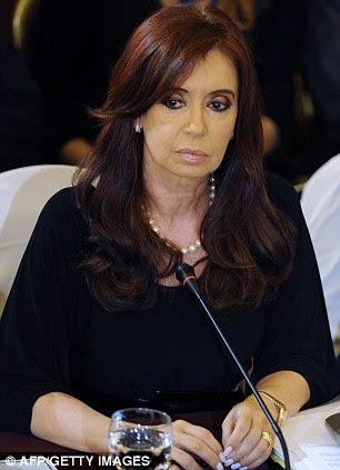 Desafiadora: Argentina a presidente Cristina Fernandez de Kirchner afirmou a Grã-Bretanha estava preparado para aproveitar os recursos naturais de outros países