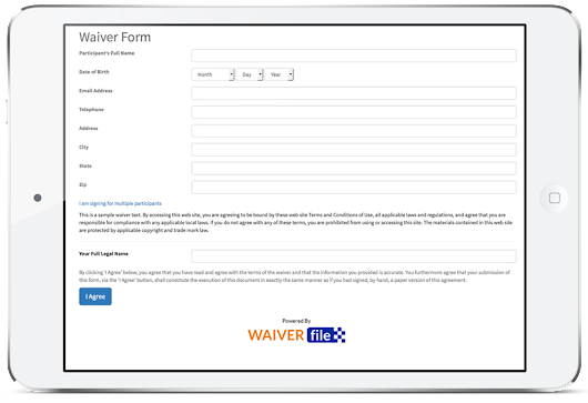 Online Waiver Forms