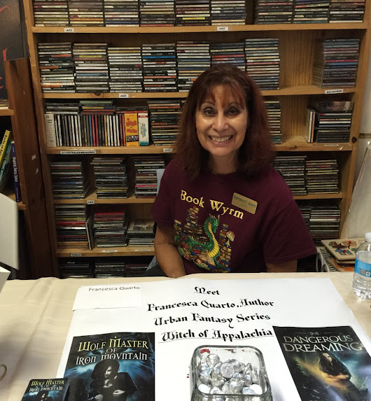 "Tell-Tale Publishing on Twitter: ""TT Bookwyrm #Author @FrancescasMagic #booksigning @bookmama making fans happy! #WitchofAppalachia """