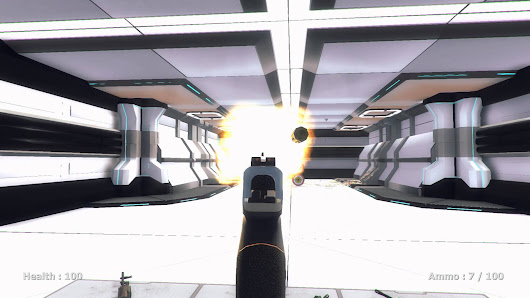 Shatter SciFi FPS GameDev update 4/2/16: Shooting range gameplay demo - Aditya Bawankule's site