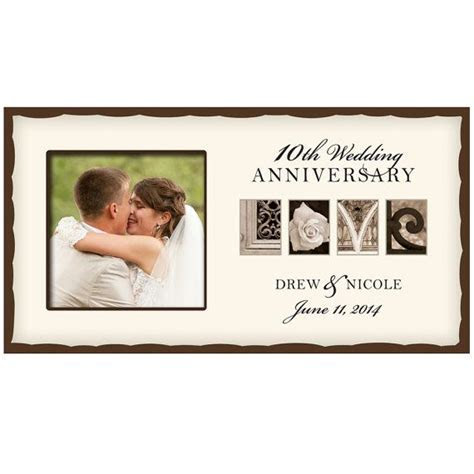 Personalized Wedding Love photo frame 10thWedding