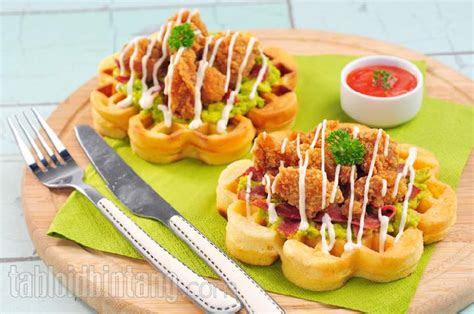 resep hari  wafel ayam meksiko  gurih cantik