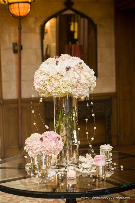 Mercury Glass Tall and Low Centerpieces for the Soft and