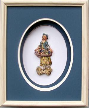 Shadow Box Frame Sb1010 White Ash Size 8x10 Oval Mats For Size 5x7