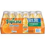Tropicana 100% Orange Juice - 24 pack, 10 fl oz bottles